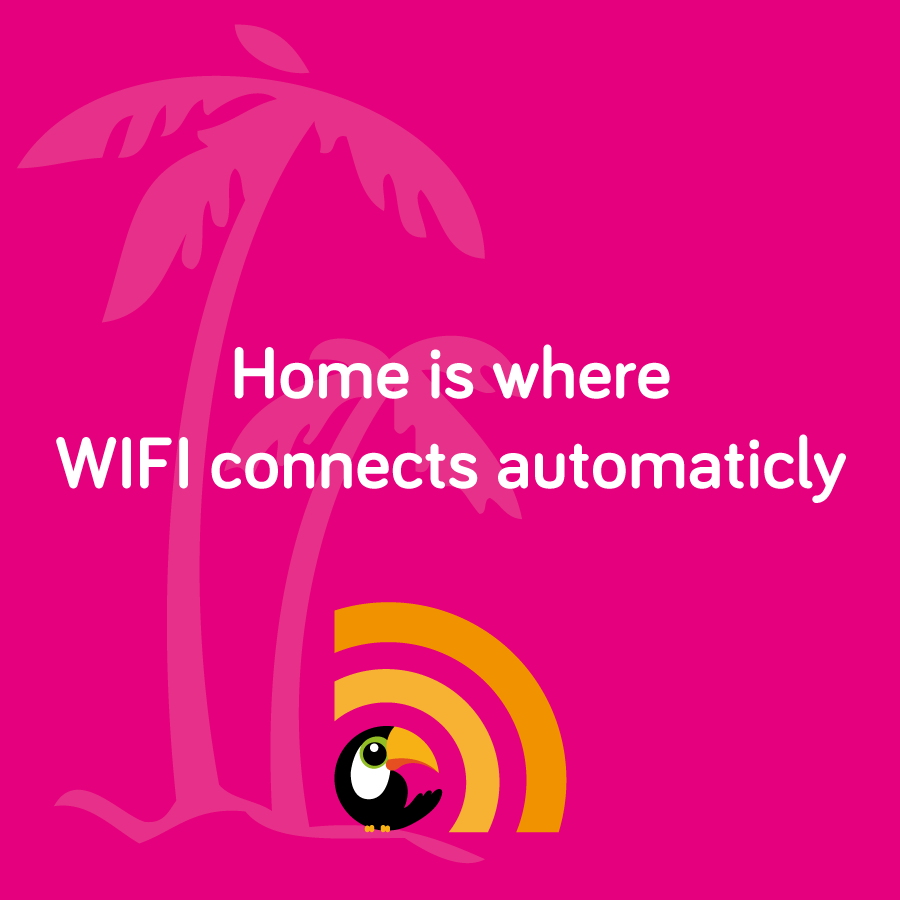 home is where wifi connects automaticly