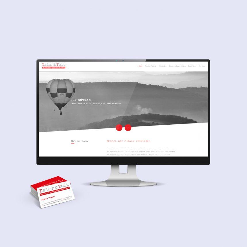 talenttelt website en huisstijl
