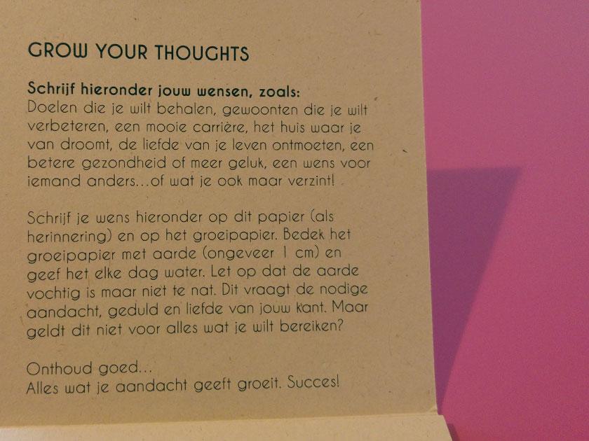 Grow your thoughts kaarten van Pluk de Dag